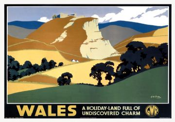 Vintage travel poster - Wales undiscovered charm